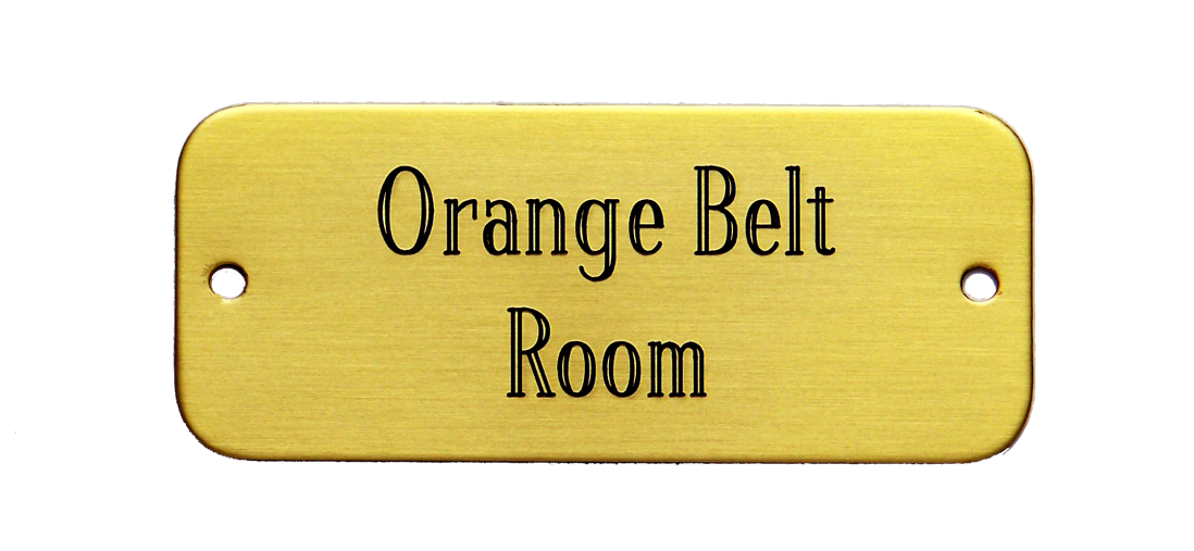 Rectangular Screw-On Door/Name Plate (1 1/4  x 3 )  sc 1 st  US Brass Shop & Rectangular Screw-On Door/Name Plate (1 1/4