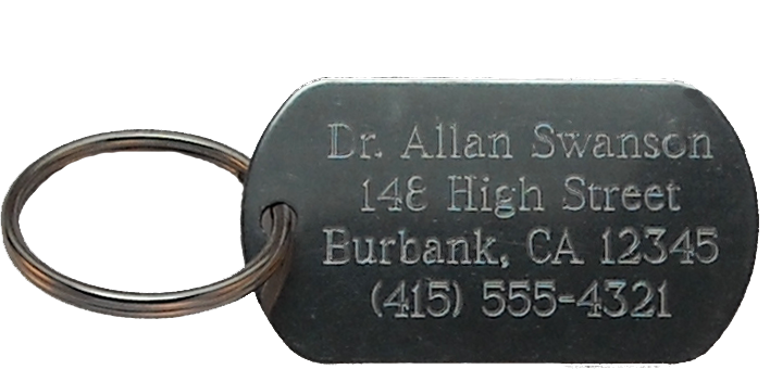 Custom Engraved Stainless Steel Key Tag (1 1 8