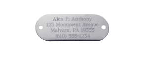 Stainless Plate & Key Tag