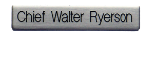 "Small Satin Nickel Name Badge with Pin Fastener, .050"" Thick"
