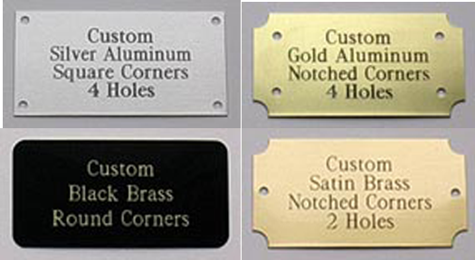 Us Brass Shop Custom Engraved Brass Nameplates